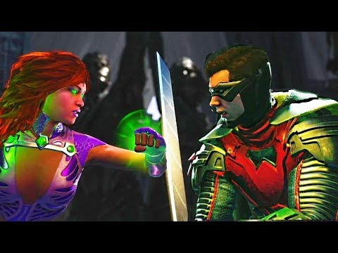 Thumbnail: Injustice 2 - Starfire vs Robin All Intros, Clash Quotes And Supermoves