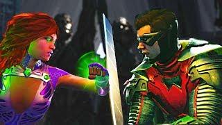 Injustice 2 - Starfire vs Robin All Intros, Clash Quotes And Supermoves