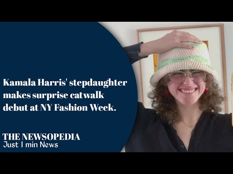 #thenewsopedia Kamala Harris' stepdaughter makessurprise catwalk debut at NY FashionWeek.