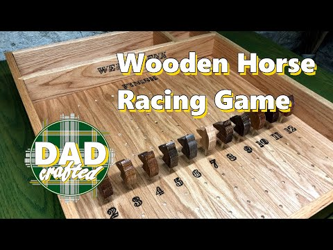Wooden Horse Racing Game | DadCrafted