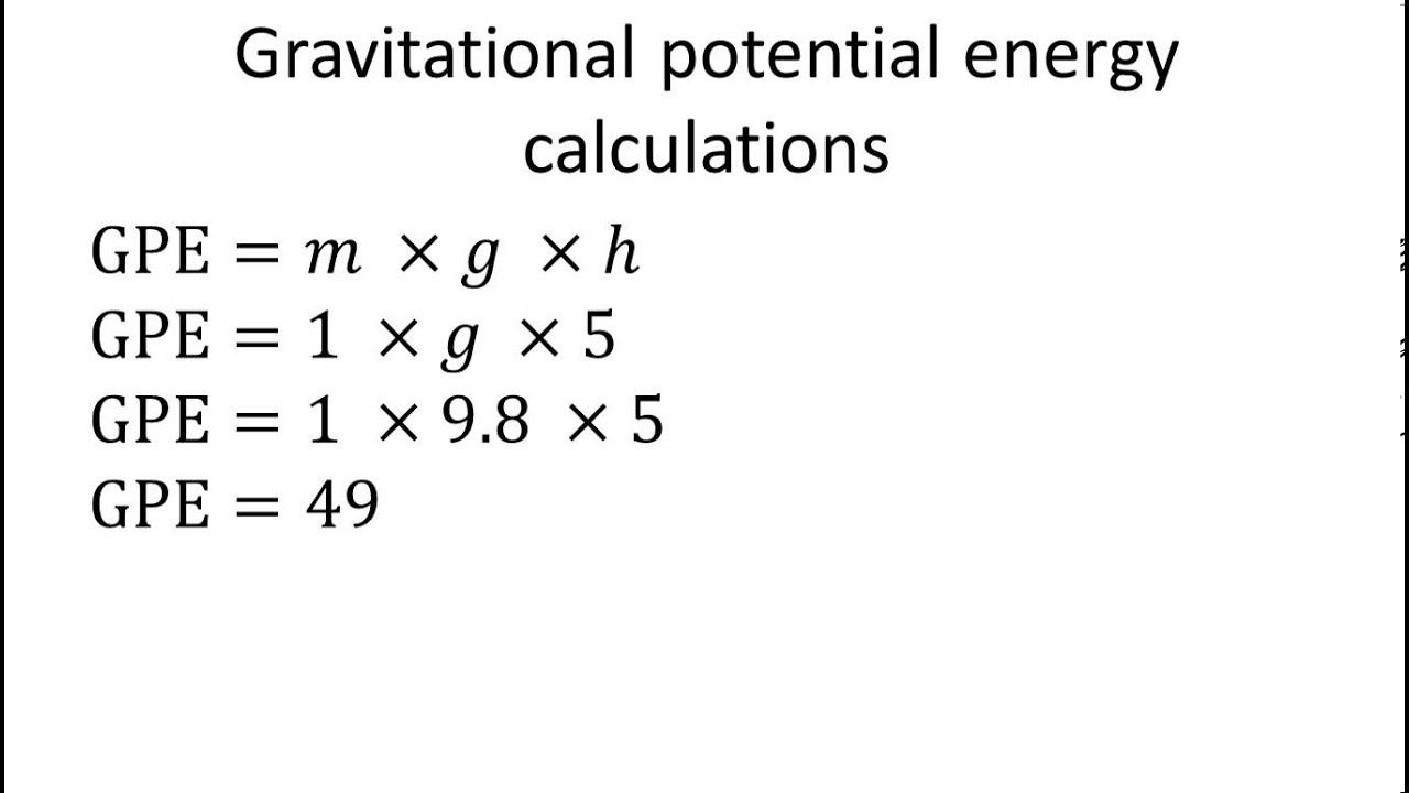 Ecuacion Energia Potencial