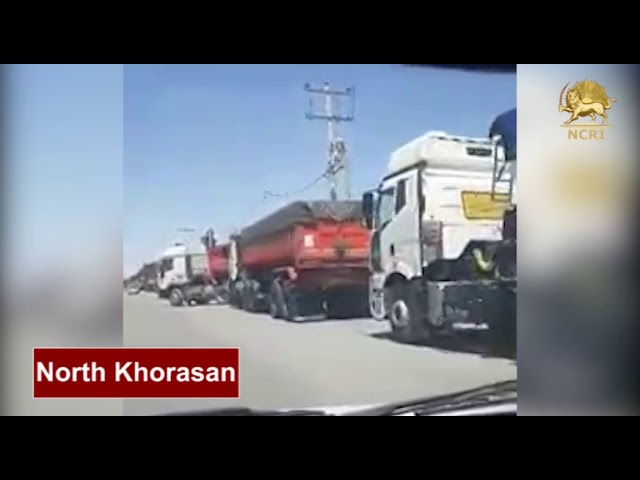 North Khorasan Province, Iran. May 22, 2018, The Nationwide Strike of Heavy Truck Drivers