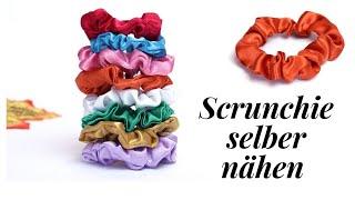 Scrunchie aus Satin selber nähen/ How to make scrunchie?