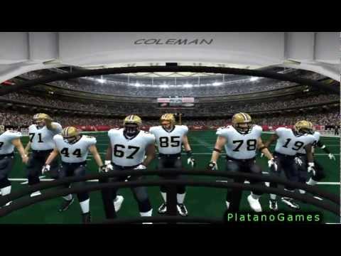 First Person View Football - New Orleans Saints vs Atlanta Falcons - 1st Half - ESPN NFL 2K5 - HD