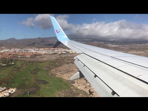 TUIFLY Boeing 738 Landing Tenerife Reina Sofia