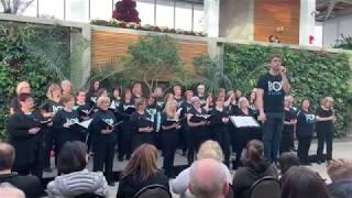 MPC Show Choir singing at the Royal Botanical Gardens in Burlington.