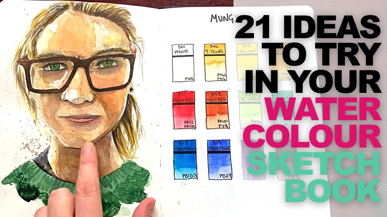21 Watercolour Sketchbook Ideas To Try Right Now! // Never Run Out of Ideas!