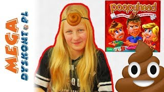 Poopyhead Gra  Kupa na głowie  Challenge  gry dla dzieci
