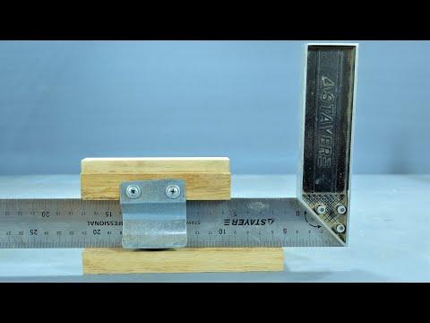 Контроль высоты пильного диска с помощью обычного угольника