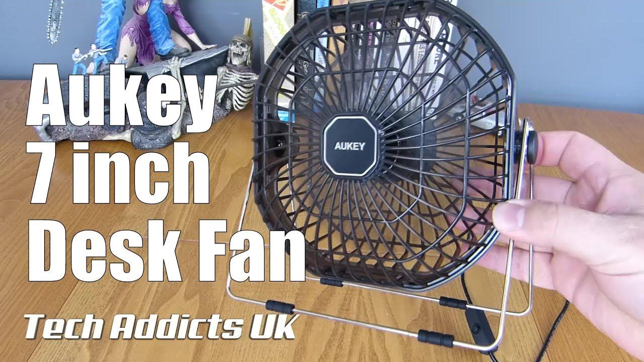 Aukey Usb 7 Ultra Quiet Desk Fan Unboxing