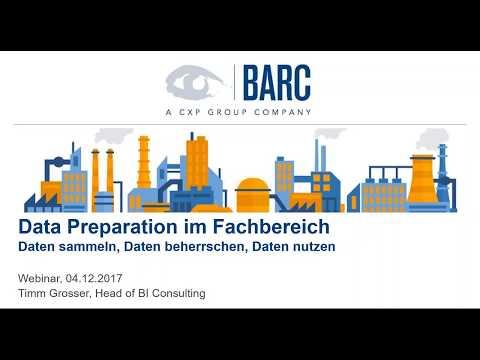 BARC-Webinar: Data Preparation – Daten sammeln, Daten beherrschen, Daten nutzen