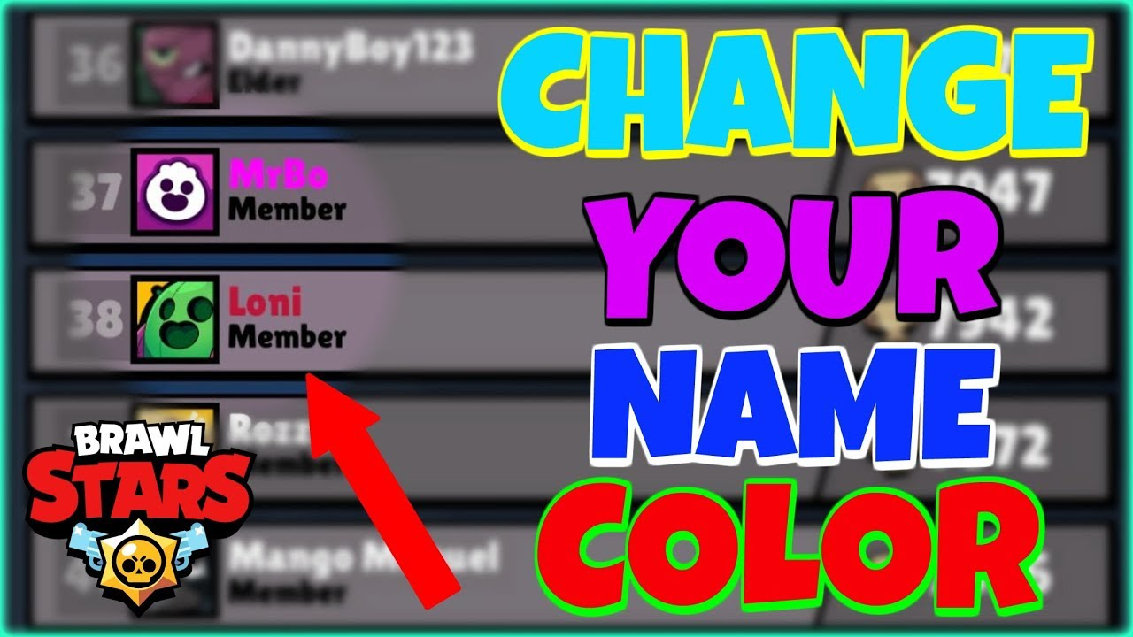 How to ADD COLOR to YOUR NAME in Brawl Stars (2018) (Global)