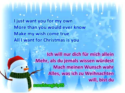 Lyrics All I Want For Christmas.Miley Cyrus All I Want For Christmas Is You Lyrics German Translation On Screen
