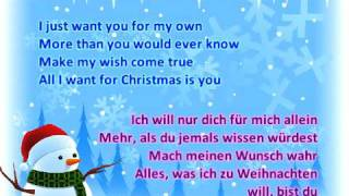 Download Miley Cyrus - All I Want For Christmas Is You (Lyrics + german translation on screen) MP3 song and Music Video