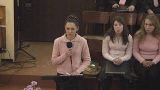 """Молодіжне зібрання. Різдво. 2009 р. Церква ЄХБ """" Голос Євангелія""""."""