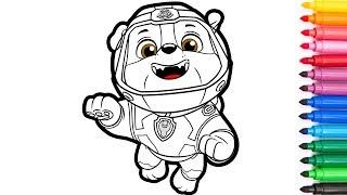 PAW Patrol. Coloring for kids. Sea Patrol, Rubble /Раскраски для детей. Щенячий патруль