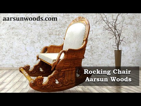 #80 Wooden Royal Rocking Chair Grandpa Chair   Easy Chair   Best gift for Elders by Aarsun