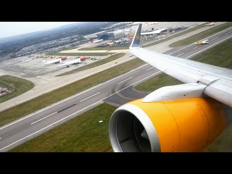 (4K) Thomas Cook UK Boeing 757-300 | London Gatwick to Lanzarote Arrecife | Flight Video - MT1002