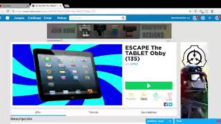 5 ESCAPE The TABLET Obby 135 Roblox Google Chrome 02 09 2019 18 30 08