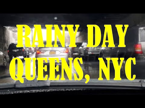 4/10/16 Driving in the Rain @ Queens, New York City