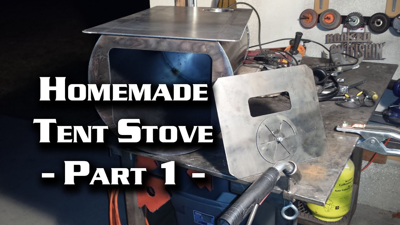 Building a Wall Tent Stove Part 1 (Cylinder Stove) & Building a Wall Tent Stove Part 1 (Cylinder Stove) - YouTube