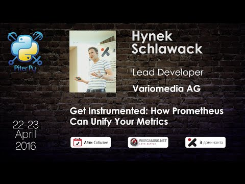 "Hynek Schlawack: ""Get Instrumented: How Prometheus Can Unify Your Metrics"""