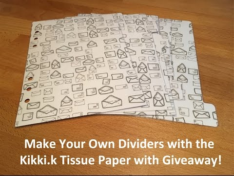 Make Your Own Dividers with the Kikki.k Tissue Paper ***GIVEAWAY CLOSED***