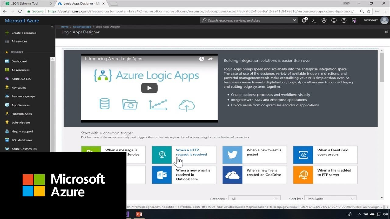 How to create a HTTP Trigger with Azure Logic Apps | Azure Tips and Tricks