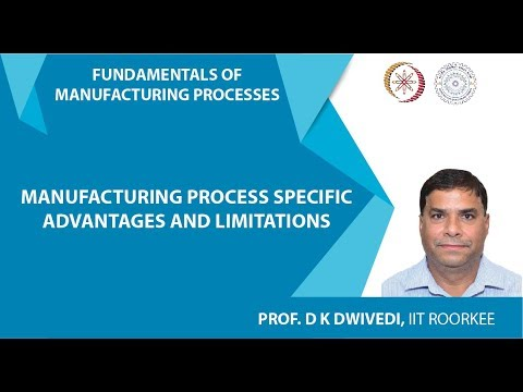 Lecture 03: Manufacturing Process Specific Advantages and Limitations