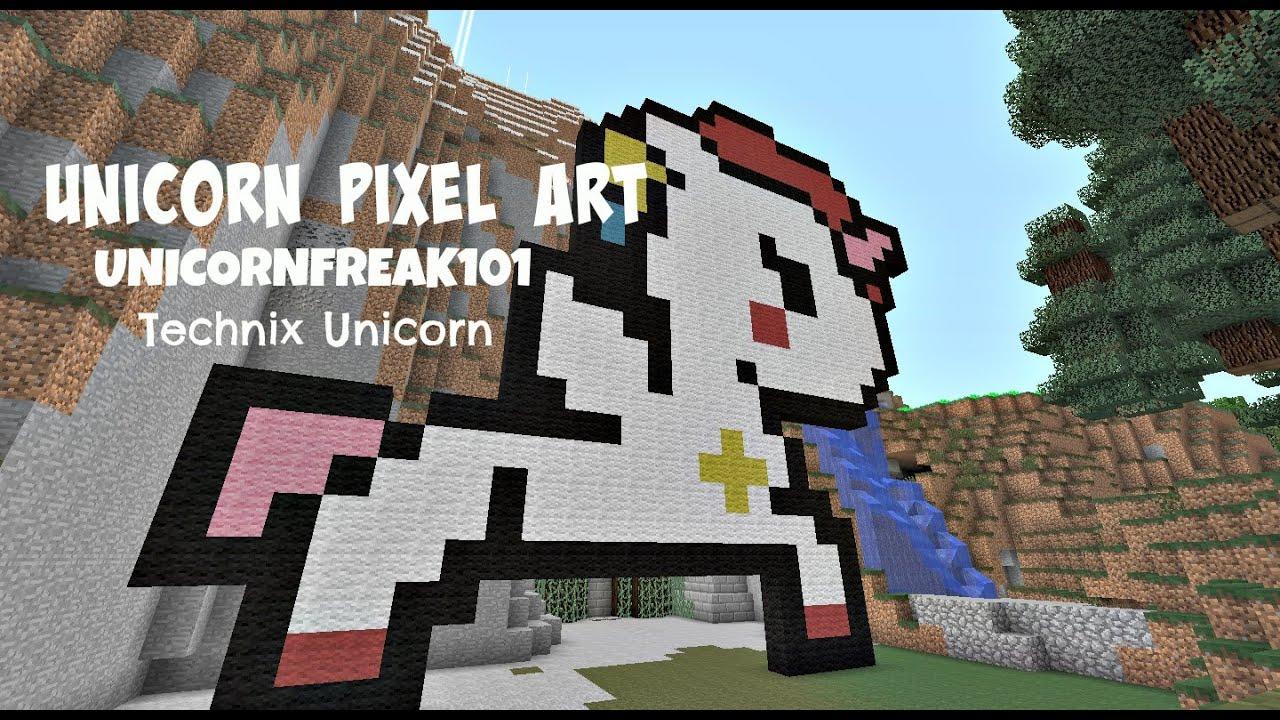 Girly Unicorn Minecraft Pixel Art Www Imagessure Com