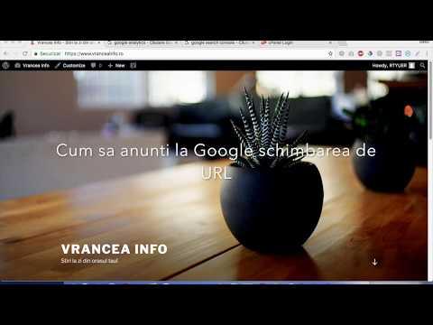 24  Cum sa anunti la Google modificarea de URL
