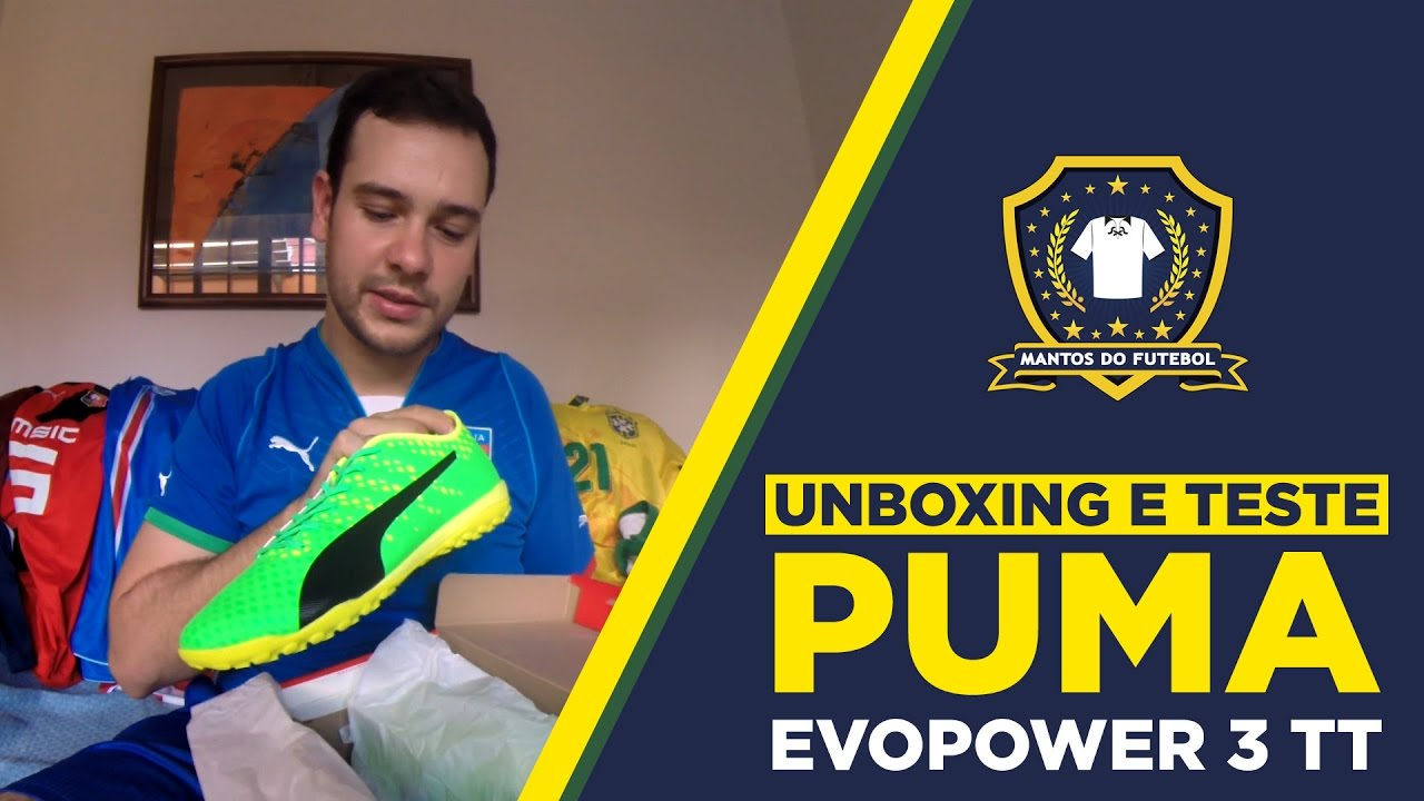 Chuteira PUMA evoPOWER 3 TT - Unboxing e Teste  MDF - YouTube 86ea76548210a