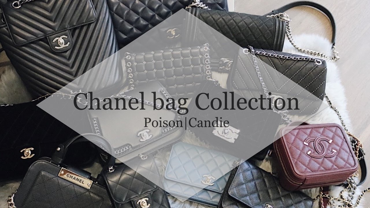 1cb61aa663e2 My Chanel bag Collection - YouTube