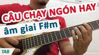 Câu lick Outro hay âm giai F#m | Học guitar online - Học đàn guitar đệm hát | Học solo guitar