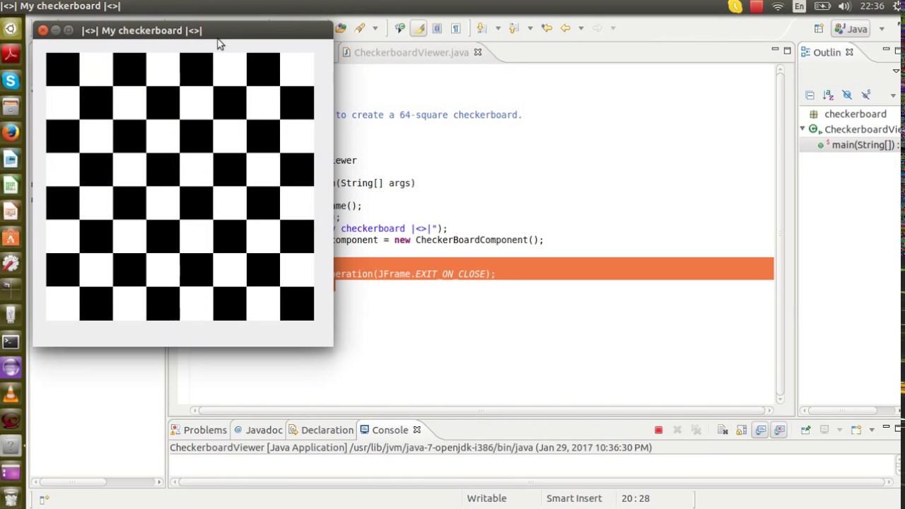 Prog  Project - Checkerboard (J Graphics)