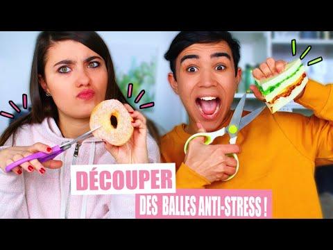 ON DÉCOUPE DES BALLES ANTI STRESS ?!! Jonathan Et Amandine