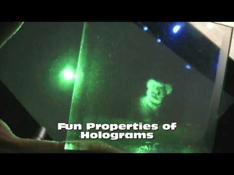 Fun Properties of Holograms - Projecting 3d Images