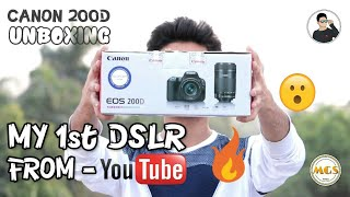 Video My first DSLR from YouTube earning 🔥| Canon 200d unboxing & review | TechAbuzar download MP3, 3GP, MP4, WEBM, AVI, FLV November 2018
