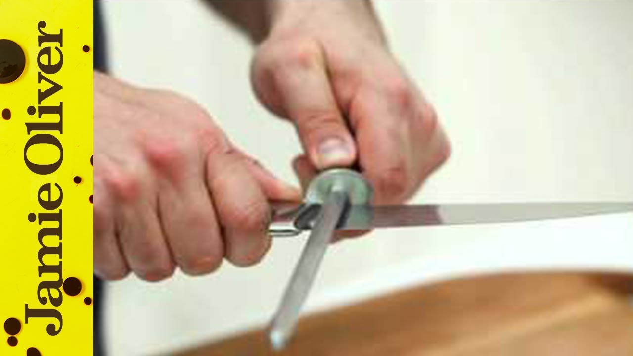 How to sharpen knives  Jamie Olivers Home Cooking Skills