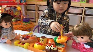 アンパンマン ホットプレートでジュージュー!できたておこさまランチでごっこ遊び Anpanman Lunch Plate Toy