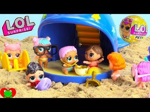 LOL Surprise Lil Sisters Beach Treasure Hunt for Ultra Rare LOL Pets