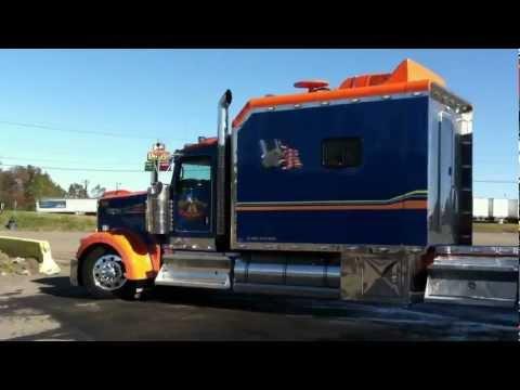 INSANE CUSTOM KENWORTH W900 CONDO & TRAILER - YouTube