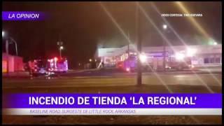 Tienda La Regional se incendia