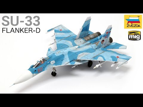Let's build and paint an airplane! (Zvezda's 1/72 SU-33 Flanker-D) - Scale Modeling Tutorial
