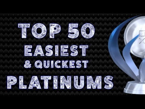 PlayStation's Top 50 Easiest & Quickest PS4 Platinum Trophies of All Time
