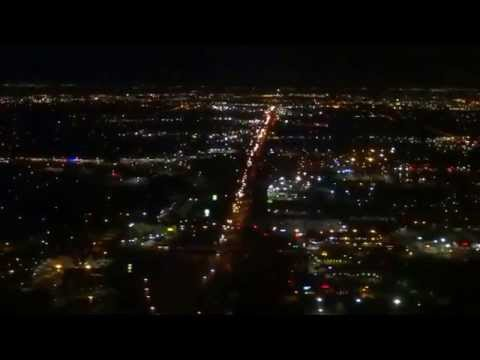Seattle - Dallas/Fort Worth DFW American Airlines night flight AA1230 2015-10-02