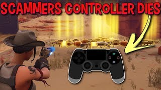 Squeaky Scammer Controller Dies While Trading (Scammer Gets Scammed) Fortnite Save The World