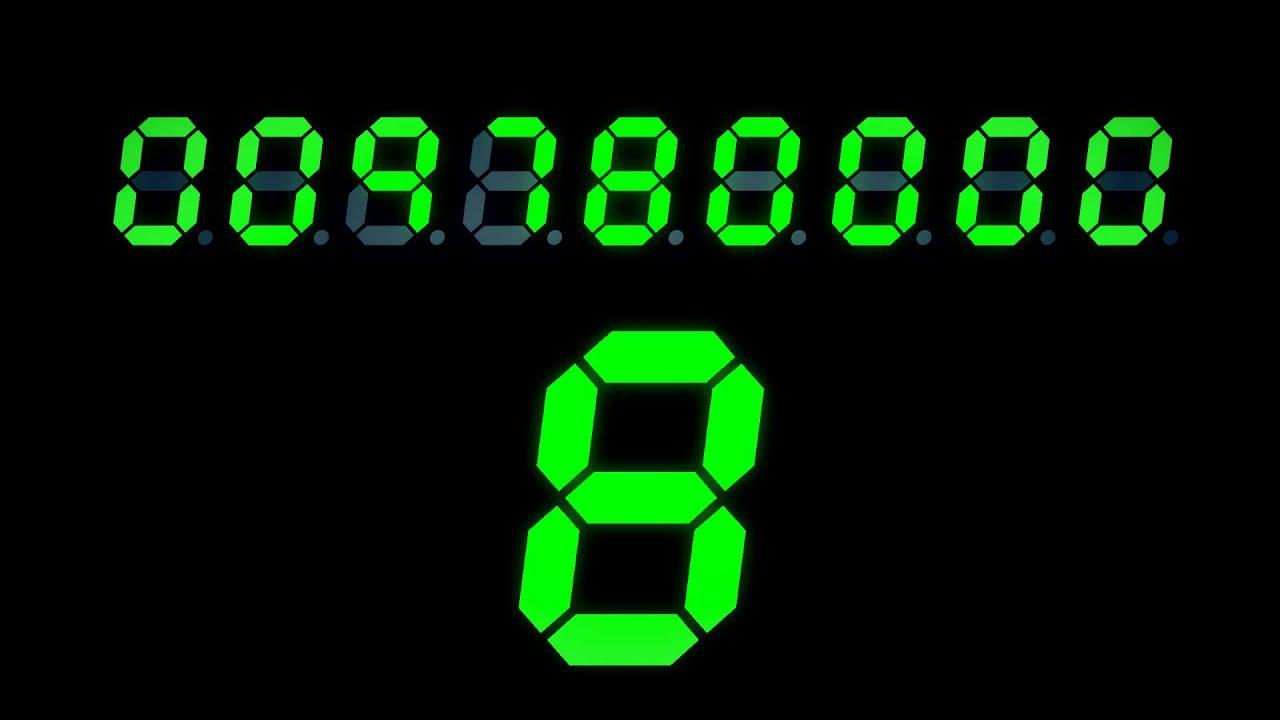 animated digital clock. animated digital clock l