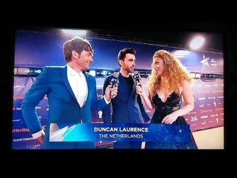 Duncan Laurence • Orange Carpet • Eurovision Opening Ceremony