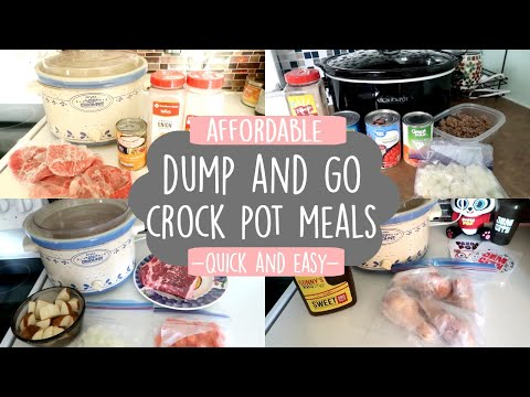DUMP & GO CROCK POT RECIPES | QUICK & EASY CROCK POT MEALS